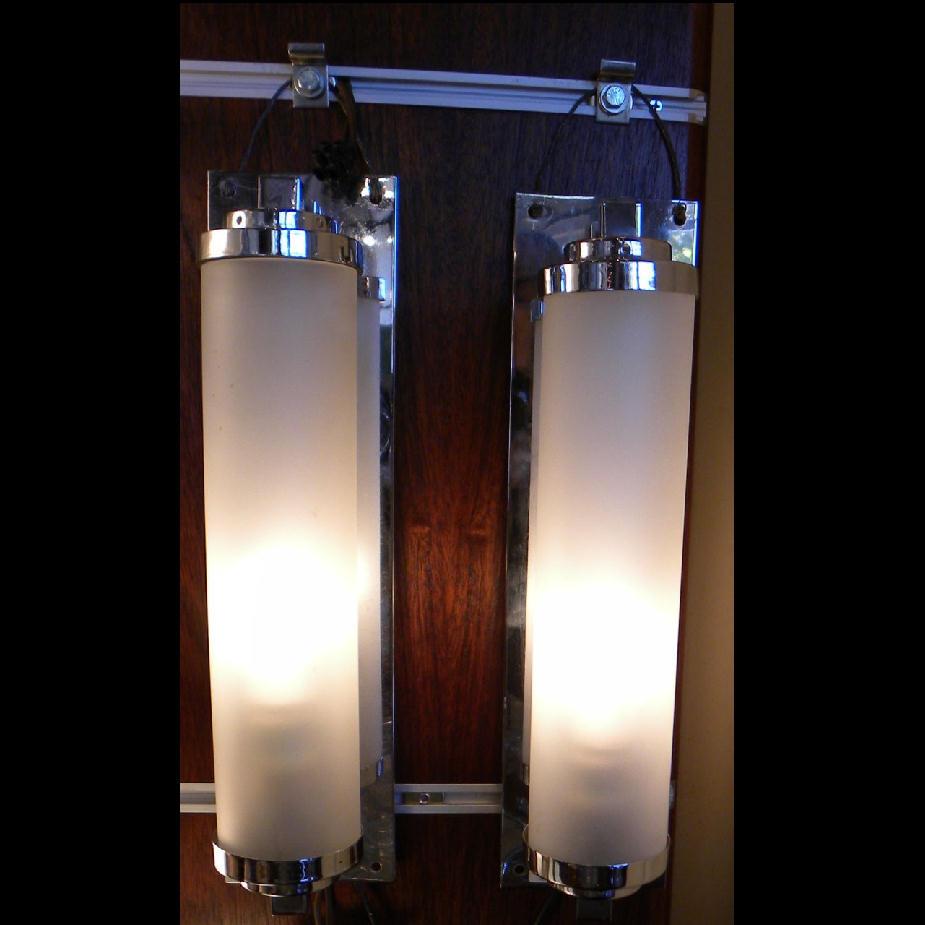Nice Vanity Art Deco Lighting Sconces Streamline Moderne