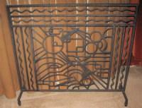Iron Art Deco Fireplace Screen   Sold Items Ironwork   Art ...