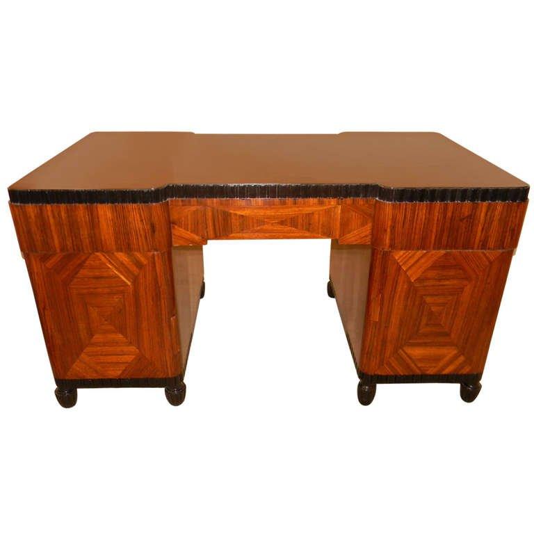 Zebrawood Desk