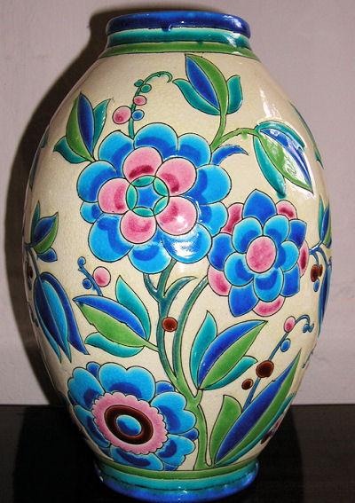 Keramis Boch Ceramic Vase Boch Freres Ceramics Art