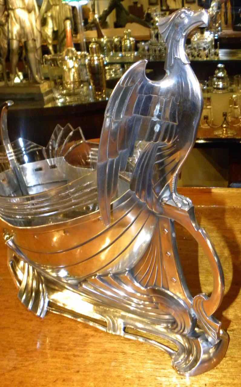 Art Nouveau Silver Eagle Centerpiece by WMF  Art Nouveau  Art Deco Collection