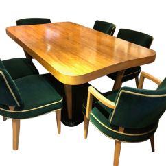Unique Dining Room Tables And Chairs Office Chair Ballet Art Deco Furniture For Sale Gilbert Rohde Paldao Set Herman Miller 10 Pieces Complete