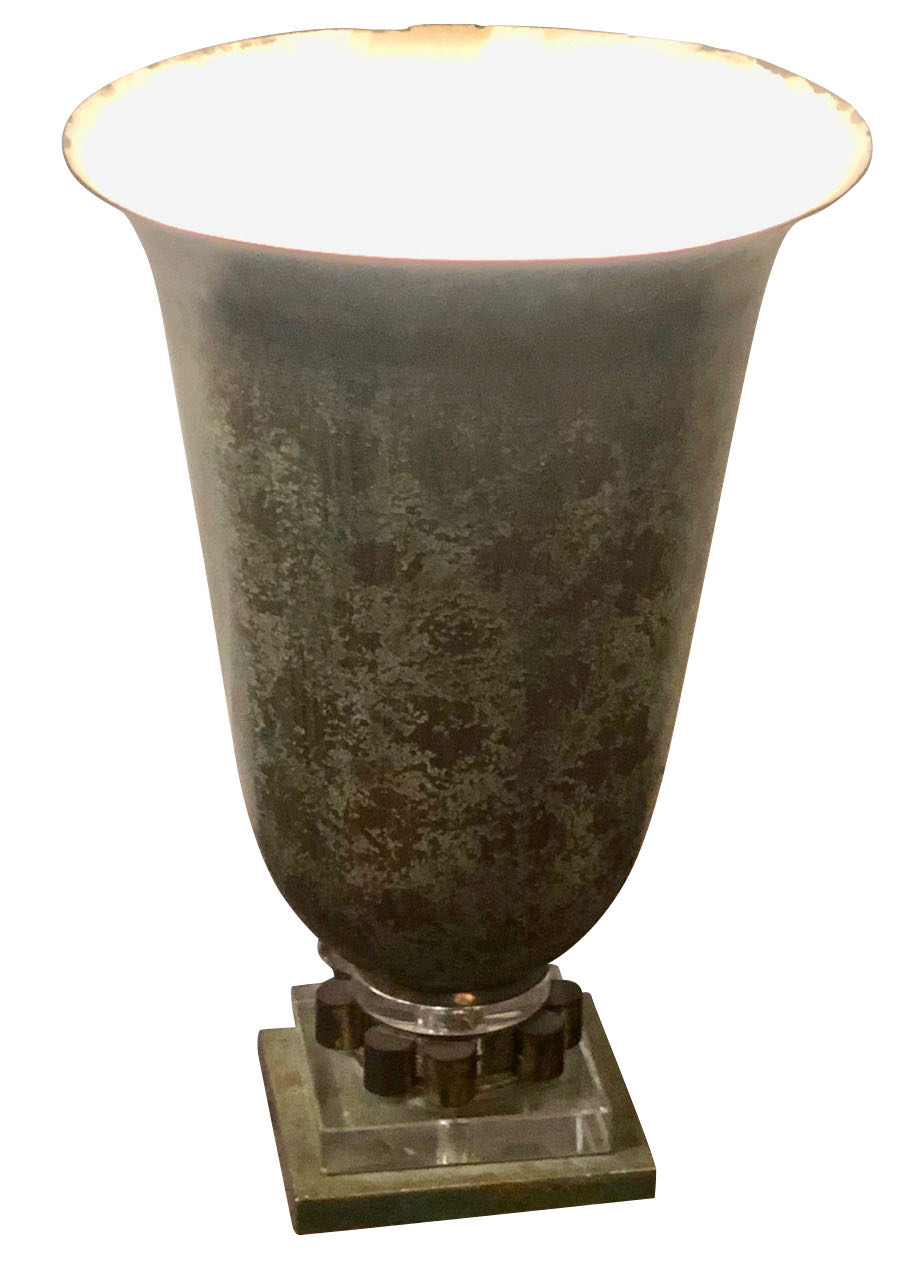 1930s French Art Deco Torchiere Tabletop Floor Lamp Table Lamps Art Deco Collection