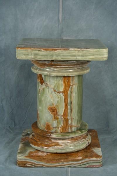 Large Doric Natural Marble Stone Pedestal Art Deco Decor