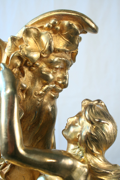 Ferville Suan Art Nouveau Antique Gold Gilded Lady Figural