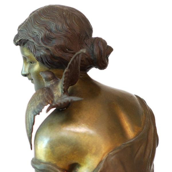 Pierre Campagne Antique Art Nouveau Bronze Sculpture