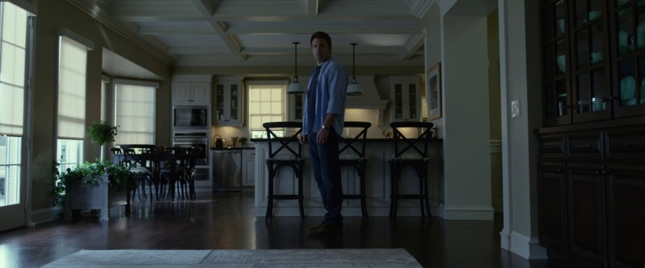 Gone Girl 2014- Screengrab- Ben Affleck in kitchen