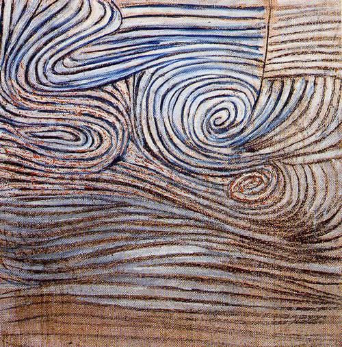 """Spiral Motif in Black, White and Indigo"", 1951 / Artist: Victor Pasmore"