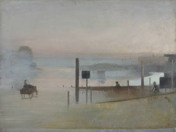 """""""The Quiet River: The Thames at Chiswick"""", 1943-4 / Artist: Victor Pasmore"""
