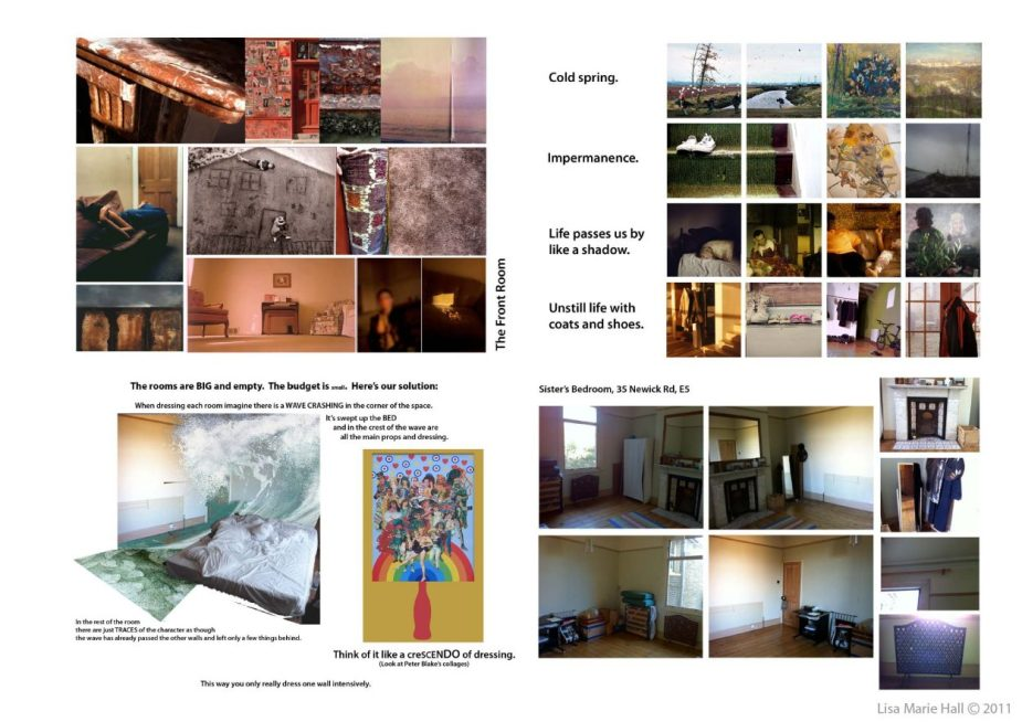 Random (2011) | Production Designer: Lisa Marie Hall | Production Design Mood Book