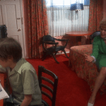 Alice Doesn't Live Here Anymore (1974) | Martin Scorsese production design | Martin Scorsese Films | Ellen Burstyn with son in hotel with red carpet