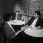 Who's That Knocking At My Door (1967) | Martin Scorsese production design | Martin Scorsese Films | Three guys sitting at the club at two white tables