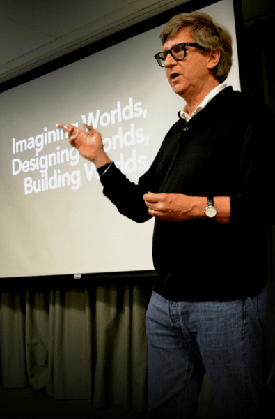 Production Designer Rick Carter gives lecture at the ADG800 office