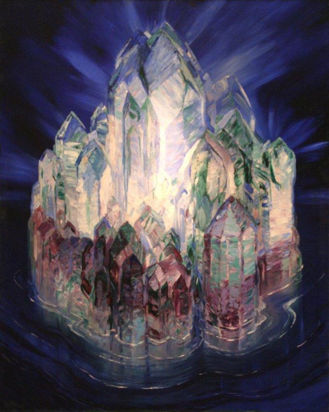 Crystal Castle in the Sea- by Wenzel Hablik