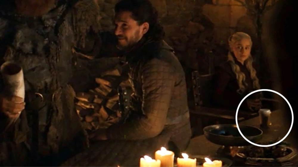 Starbucks coffee cup in Game of Thrones Season 8 episode 4