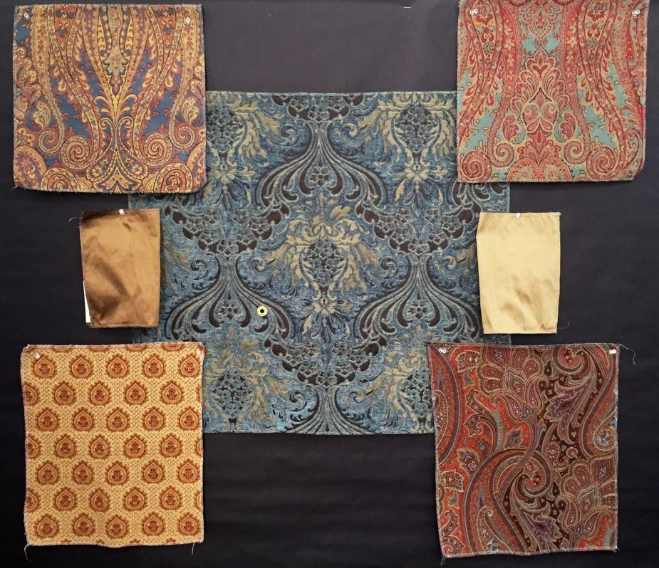 TUA fabric samples mood board