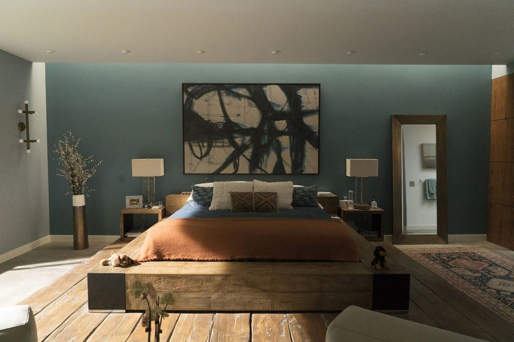 Big Little Lies Production Design | Production Designer John Paino | Set Decorator: Amy Wells | Set design of Celeste's bedroom