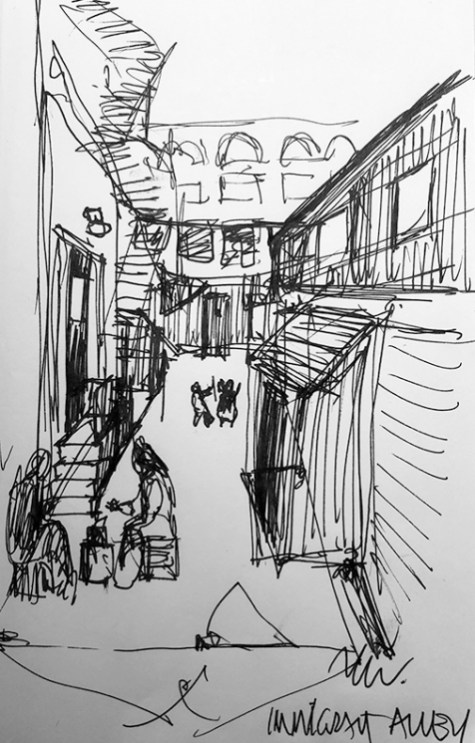 Thumbnail sketch of Immigrant Alley | By M. Wihak