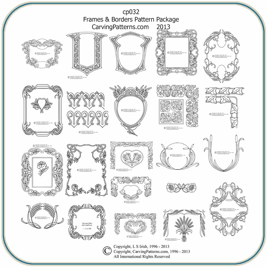 classic frames border patterns