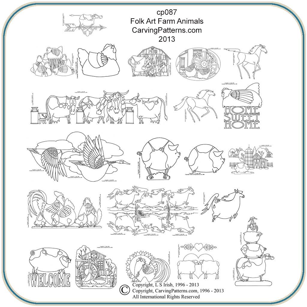 Farm Animals Amp Folk Art Patterns Classic Carving Patterns