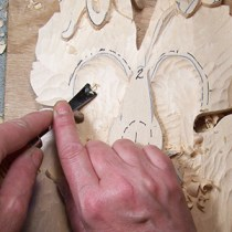 rough out stage of wood carving