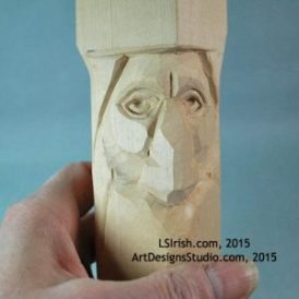 wood carving the wood spirit eye