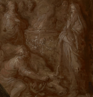Frans Francken the Younger, The Idolatry of Solomon, 1622. Detail