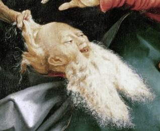Matthias Grünewald, The Incessant Temptation of St. Anthony, ca. 1512-15, Detail