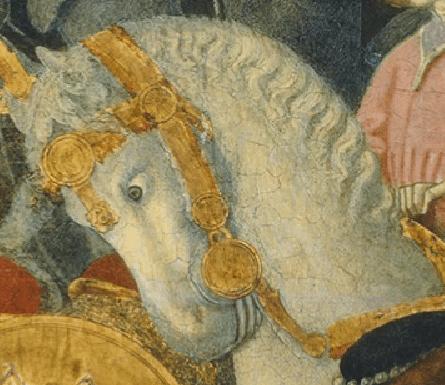 Benvenuto di Giovanni, The Adoration of the Magi, c. 1470/1475. Detail