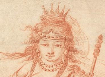 1647, Claude Vignon, Cleopatra, Metropolitan Museum of Art, New York. Detail
