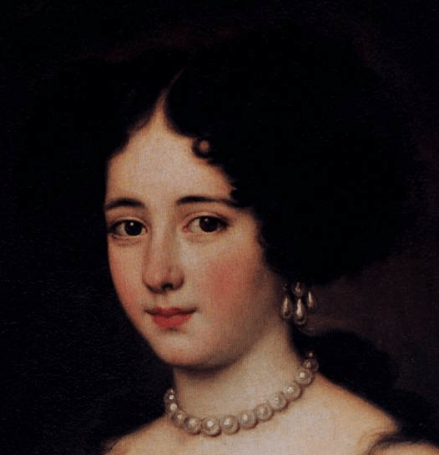1663-72, Jacob Ferdinand Voet, Maria Mancini as Cleopatra Staatliche Museen, Berlin. Detail