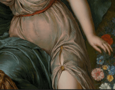 Willem van Mieris, Armida Binding the Sleeping Rinaldo with Flowers, 1709. Detail