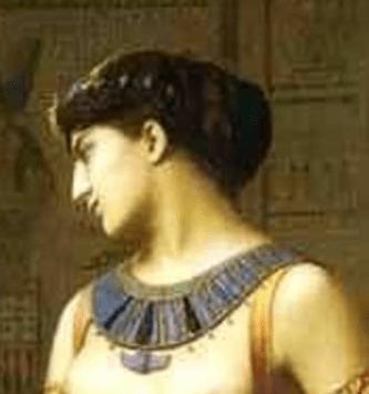 1866, Jean-Léon Gérôme, Cleopatra and Caesar, Private Collection. Detail
