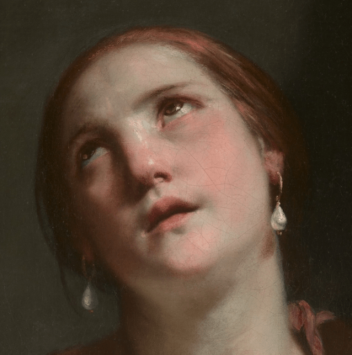 1645–55, Guido Cagnacci, Death of Cleopatra, Metropolitan Museum of Art, New York. Detail
