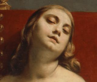 1660–62, Guido Cagnacci, Death of Cleopatra, Pinacoteca di Brera di Milano. Detail