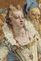 c.1746, Giovanni Battista Tiepolo, The Meeting of Antony and Cleopatra National Gallery of Scotland, Edinburgh. Detail