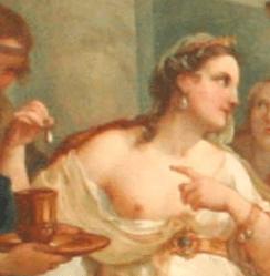c.1754, Charles-Joseph Natoire, The Banquet of Cleopatra, Musée des Beaux-Arts de Nîmes. Detail