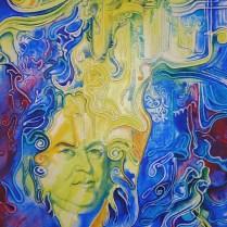J. S. Bach, 70x50 cm, acryl, canvas, 2001