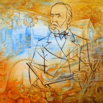 Dobšinsky, 70x100 cm, watercolor, acryl, canvas