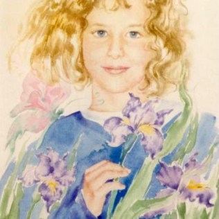 Iris, 40x30 cm, watercolor