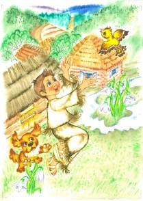 Ilustrácia ku knihe Kristíny Rojovej, akvarel