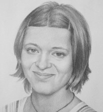Lesia's Portrait, 40x30 cm, pencil drawing