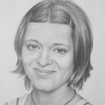 Lesia's Portrait, 40x30 cm, pencil drawing