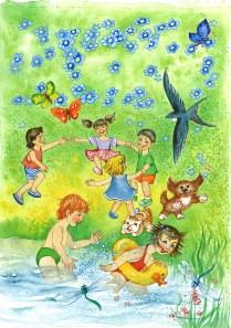 Ilistracia k časopisu Maxik, akvarel