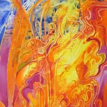Mozart, 70x50 cm, acryl, canvas, 2001