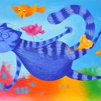 Look, I am flying, 40x50 cm, acryl, cardboard, 2012