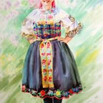 Woman in Slovak folk costume , 70x50 cm, watercolor