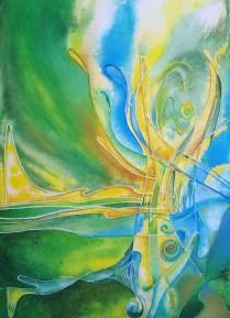 Trumpet, 70x50 cm, acryl, canvas, cardboard, 2009