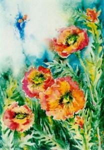Vzlet, 45x30 cm, akvarel