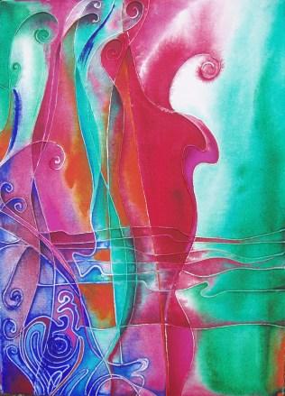 Violoncelio, 2010, 70x50cm, Acryl, canvas, cardboard